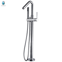 Simple bathroom style bathtub filler free standing tub faucet mixer