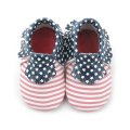 Gwiazdy i Paski Leather Moccasins Baby Shoes