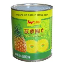 850g Canned Pineapple Sliced in Light Syrup