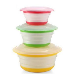 Plastic shrinkage bowl with lid