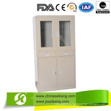 Шкаф медицинского шкафа Skh051 из нержавеющей стали, шкаф для хранения документов