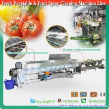 Línea de máquinas clasificadoras de pulverización de limpieza de frutas y verduras 2016 para selección y preparación