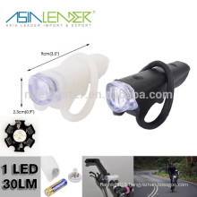 Super Bright LED 100%Lighting and Strobe Silicone Bike Light