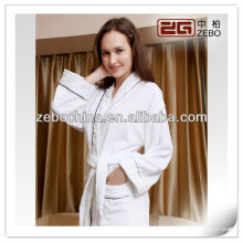 High quality shawl collar velour 5 star hotel wholesale bathrobe