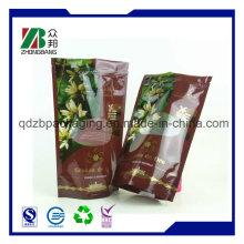 Kundenspezifisches Design Gedrucktes Plastiknahrungsmittelverpackungs-Beutel mit freiem Fenster (ZB011)