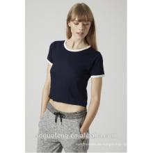 hochwertiges, kurzärmeliges Basic T-Shirt / weiches Jersey / 65% Polyester, 35% Viskose-T-Shirt