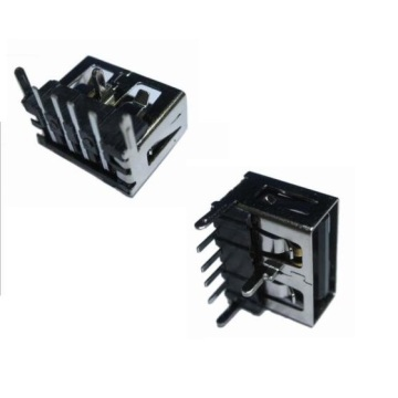 USB A Receptacle Angle DIP12.90mm Short Body 10MM (3legs)