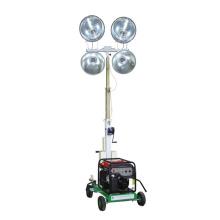 Generador diesel portátil torre de luz mástil hidráulico remolque móvil torre de luz FZM-1000B