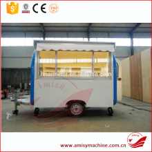 Summer Commercial Mobile Food Cart With Frozen Yogurt Machine
