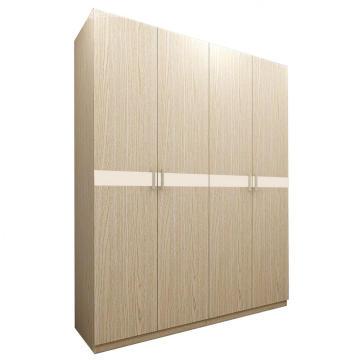 Modern Light Wenge Wooden 4 Door Amoires & Wardrobes