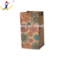 Bolsa de papel a prueba de grasa impresa logotipo respetuoso del medio ambiente del tamaño modificado para requisitos particulares del alimento para llevar