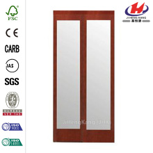 JHK-G01 Lowes Glass Wood Interior French Doors