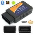 Par de 2016 obras más populares en Android Elm327 Bluetooth Elm 327 OBD2 OBD II Bluetooth Auto escáner de diagnóstico de coche
