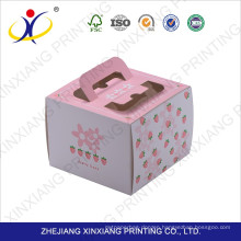 Free sample!Wholesale Cake Box for Macaron Food Boxes with open window