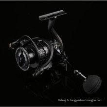 Tambour de pêche de moulinet de pêche en métal tournoyant