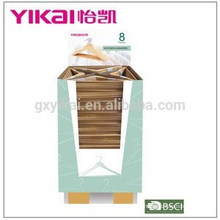 Promotional and popular shirt and pants wooden clothes hanger