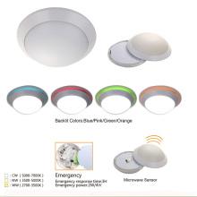 Lámpara de plafón LED de sensor de movimiento de luz de domo ultrafina delgada montado en superficie