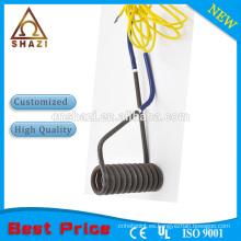 Calentador de inmersión de bobina, elemento de calentamiento eléctrico