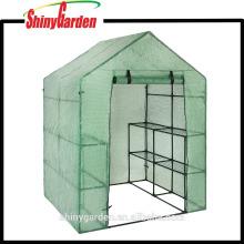Stahlrahmen-Garten-Grünhaus mit PET-Maschen-Abdeckung