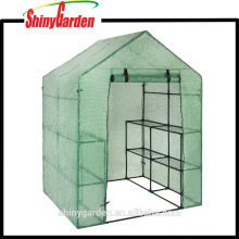 Steel Frame Garden Green house with PE Mesh Cover