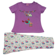 Summer Baby Girl Children′s Suit for Kids Clothing