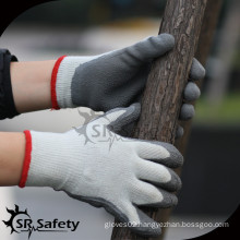 SRSAFETY 7ga Knitted Liner Latex Coated safety glove/warm winter gloves