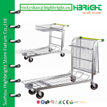 Тележка складской платформы, складская тележка / тележка, грузовик складской платформы супермаркета