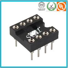 Factory Custom 2.54mm 8pin Double Row Pin Header IC Socket