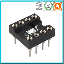 Fábrica Custom 2.54mm 8pin Duplo Row Pin Header IC Soquete