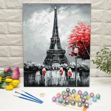 Eiffel Tower in Paris paint by numbers kit framed digital painting