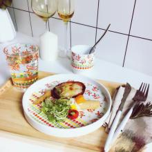 Cute Pattern Ceramic Steak Dishes Dinner Plate