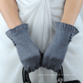 button design ladies smart phone touchscreen wool gloves with cheap price