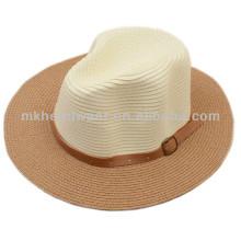 Горячая продажа Летняя женщина Складная Широкий Brim Floppy Beach Sun соломенной шляпе Cap