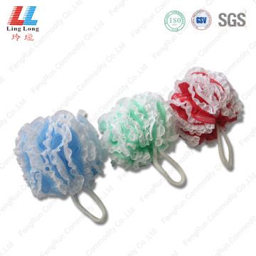 White lace mesh sponge ball