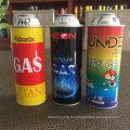 Una lata de aerosol de espuma de lata de gas de butano más liviana