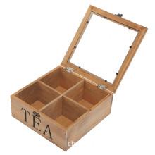 Rustic Wooden Medium Wooden Tea Bag Storage