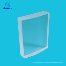 Lentilles cylindriques optiques au fluorure de calcium CaF2 haute précision 50,8 mm
