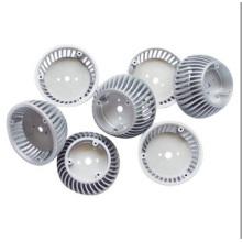 Cubierta de radiador LED de fundición a presión de aluminio