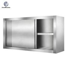 Armario para colgar en la pared de cocina con puerta corredera de acero inoxidable