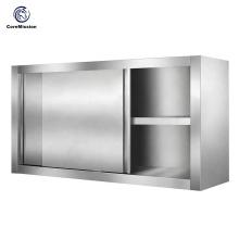 Armário de suspensão de parede de aço inoxidável da cozinha da porta deslizante