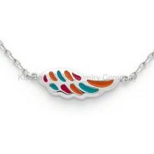 Hot vendendo colar de prata jóias Wing para crianças