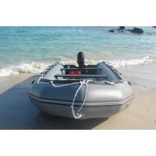 Barco inflable de la playa del barco del pontón para la pesca con el motor