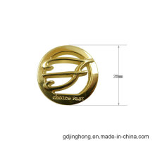 Gold Plated Hollow Fashion Logo Zinc Alloy Bags Metal Label