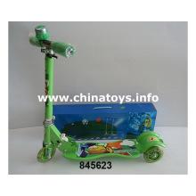 Скутер для детей с легким пинком с подсветкой (845623)