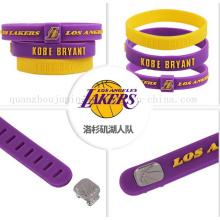 OEM Logo NBA Adjustable Sport Silicone Bracelet for Promotion