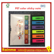 Note collante de couleur d'animal familier pour l'approvisionnement de papeterie de bureau