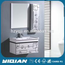 Китайский шкаф Современные висячие краски Зеркальные ПВХ водонепроницаемые шкафы для ванной комнаты