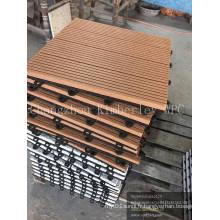 Tuile de plancher extérieure de Decking de DIY WPC pour le balcon