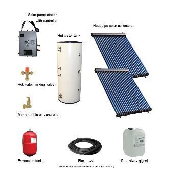 High Efficient Family Separated Pressurized Heat Pipe Solar Collectors