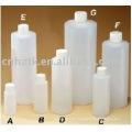 Botellas de plástico de 16 oz con tapas roscadas